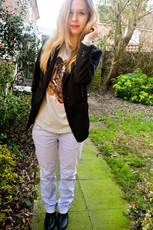 Seashells vintage blazer - Seashells vintage boots - Zara jeans