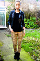 new look jeans - next boots - Miss Selfridge jacket - H&M t-shirt