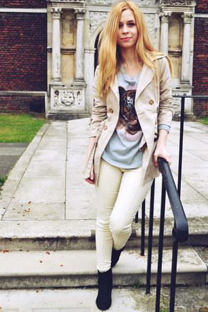Ebay top - next boots - Seashells vintage coat - Stylenanda pants