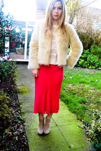 Seashells vintage jacket - asos boots - vintage dress - Primark jumper