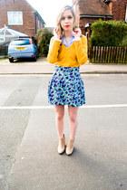 vintage skirt - asos boots - H&M shirt - Mango jumper