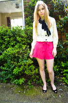 DIY shorts - Mango shoes - Seashells vintage blouse