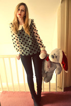next boots - Topshop jeans - Ebay Korean boutique blouse