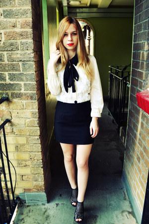 Seashells vintage shirt - Stylenanda skirt