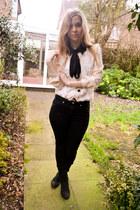 Ebay blouse - next boots - Topshop jeans