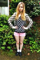 Ebay blouse - Topshop shorts - Primark flats