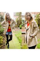 Ebay hoodie - Seashells vintage coat - Levis shorts - Seashells vintage flats