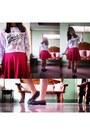 Girlfriends-cardigan-skater-skirt-skirt-sports-loafers