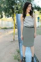 Target top - 7th & West necklace - Shoe Dazzle heels