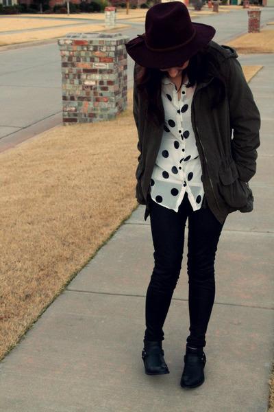 Forever 21 boots - Target hat - Old Navy jacket