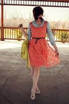 eShakti dress - Primark shirt - Guess heels