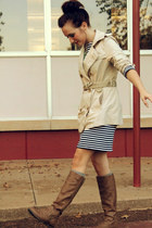 trench coat Gap jacket - zipper Target boots - striped Target dress