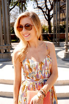 Julie Brown dress - aviator ray-ban sunglasses - peep toe Steve Madden sandals