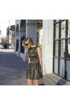 tory burch boots - LAMB dress - Prada sunglasses