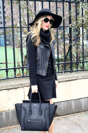 black floppy hat Urban Outfitters hat - maroon booties Jason Wu boots