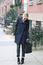 military jacket LAMB coat - booties Elizabeth and James boots