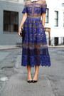 Purple-lace-dress-self-portrait-dress-black-structured-m2m-purse
