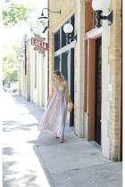 nude oversized vintage bag - bubble gum maxi dress LuLus dress
