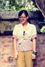 Polka-dot-vintage-blazer-mango-pants
