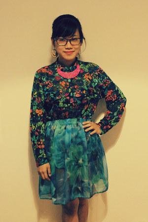 thrift shirt - DIY skirt