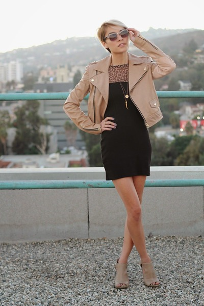 Beige Leather Jackets, Beige Cut Out Boots, Black Leopard Print ...