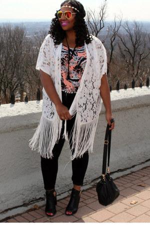 black high waist Charlotte Russe jeans - black bucket bag Charlotte Russe bag