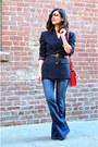 Blue-j-brand-jeans-navy-vintage-blazer-red-celine-bag