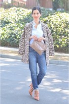 H&M coat - Gap jeans - Marc Jacobs bag - JCrew heels - JCrew top