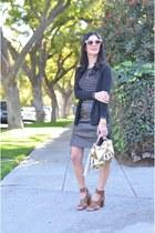 black vintage skirt - camel Diane Von Furstenberg bag - black Gap top