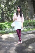 pink Gap jacket - bubble gum Lulus top - aquamarine Joa skirt