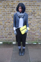 yellow neon Kurt Geiger bag - black Urban Outfitters boots