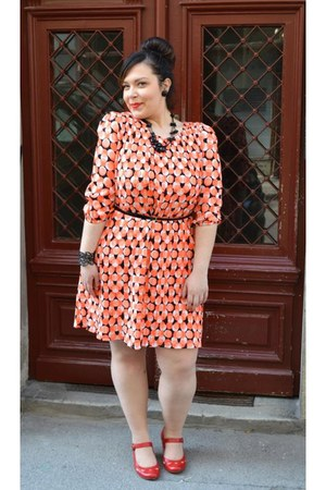 light orange Buffalo dress