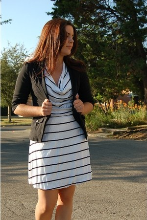 white H&M dress - black Sirens blazer