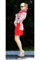 red Abathie Design blazer - red Forever 21 dress