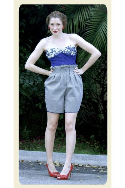 off white Abathie shorts - blue Abathie top