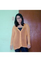 carrot orange crochet coco cabana cardigan