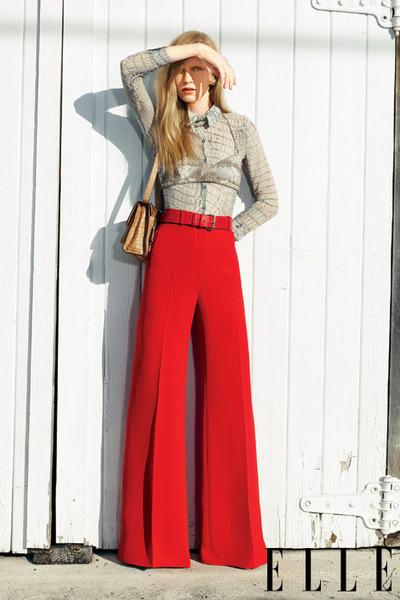 red Brioni pants - heather gray python roberto cavalli bra - gray roberto cavall