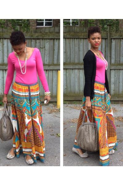 vintage Forever 21 skirt - Zara cardigan