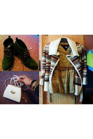 olive green Mr Price boots - Mr Price cardigan