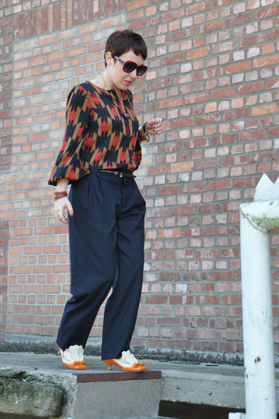 navy Miu Miu pants