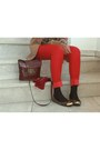 Red-mango-pants-light-brown-zara-blazer-crimson-pull-bear-bag