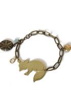 brass charms bracelet