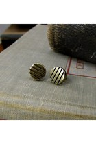 Striped Stud Earring