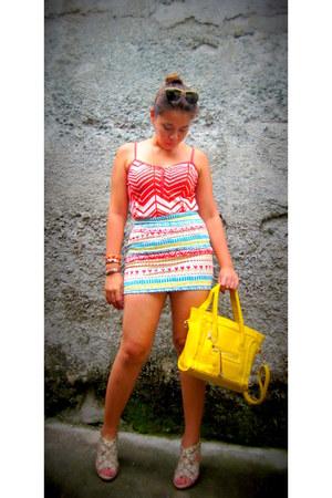 Forever21 skirt - Folded and Hung shirt - Forever21 bracelet - Possibility heels