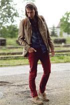topsecret shirt - Pepe Jeans shoes - Top Secret jacket - house pants