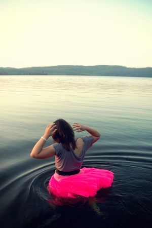 gray addiemarieclothing top - pink skirt