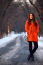 Black-boots-carrot-orange-coat-dark-brown-tights