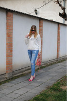 Current Elliott jeans - Mango sweatshirt