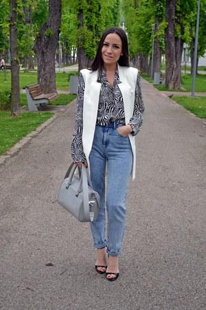 Zara shirt - Bershka jeans - Zara bag - Zara sandals - Zara vest
