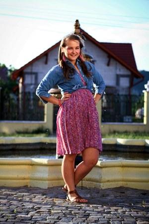 violet denim random shirt - florar random scarf - florar random skirt